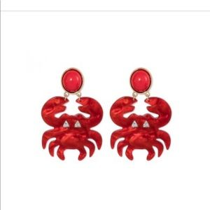 NWT Sugarfix Crab Statement Earrings